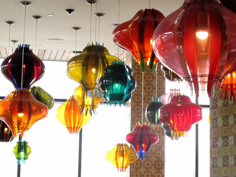 Glass pendants The Alexander Hotel in Indianapolis
