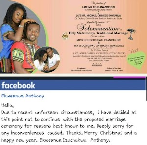 Man Terminated Wedding preparations  after Catching His Lady Cheating Just Days to Their Wedding