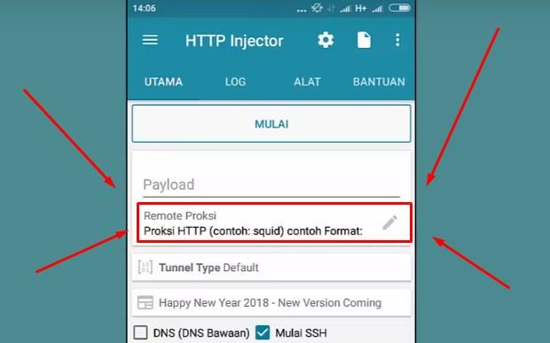 Dengan HTTP Injector Untuk Mengubah Kuota iFlix