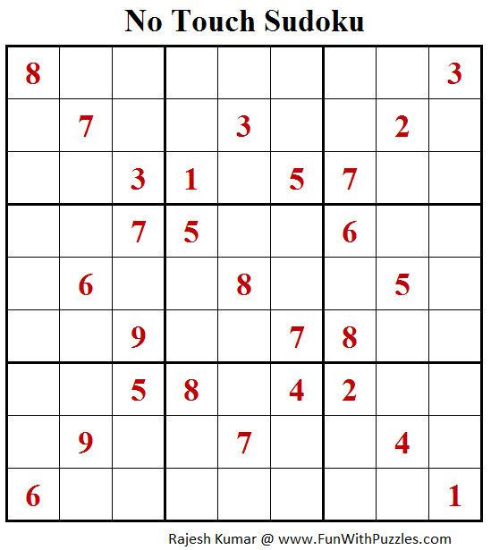 No Touch Sudoku (Daily Sudoku League #159)