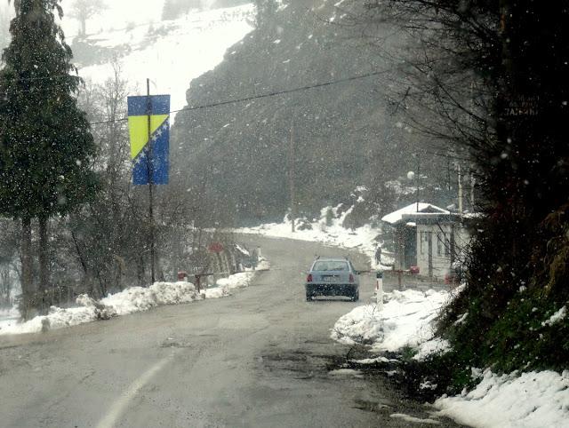 Immigration & Security Check Point in Bosnia & Herzegovina in Metaljka