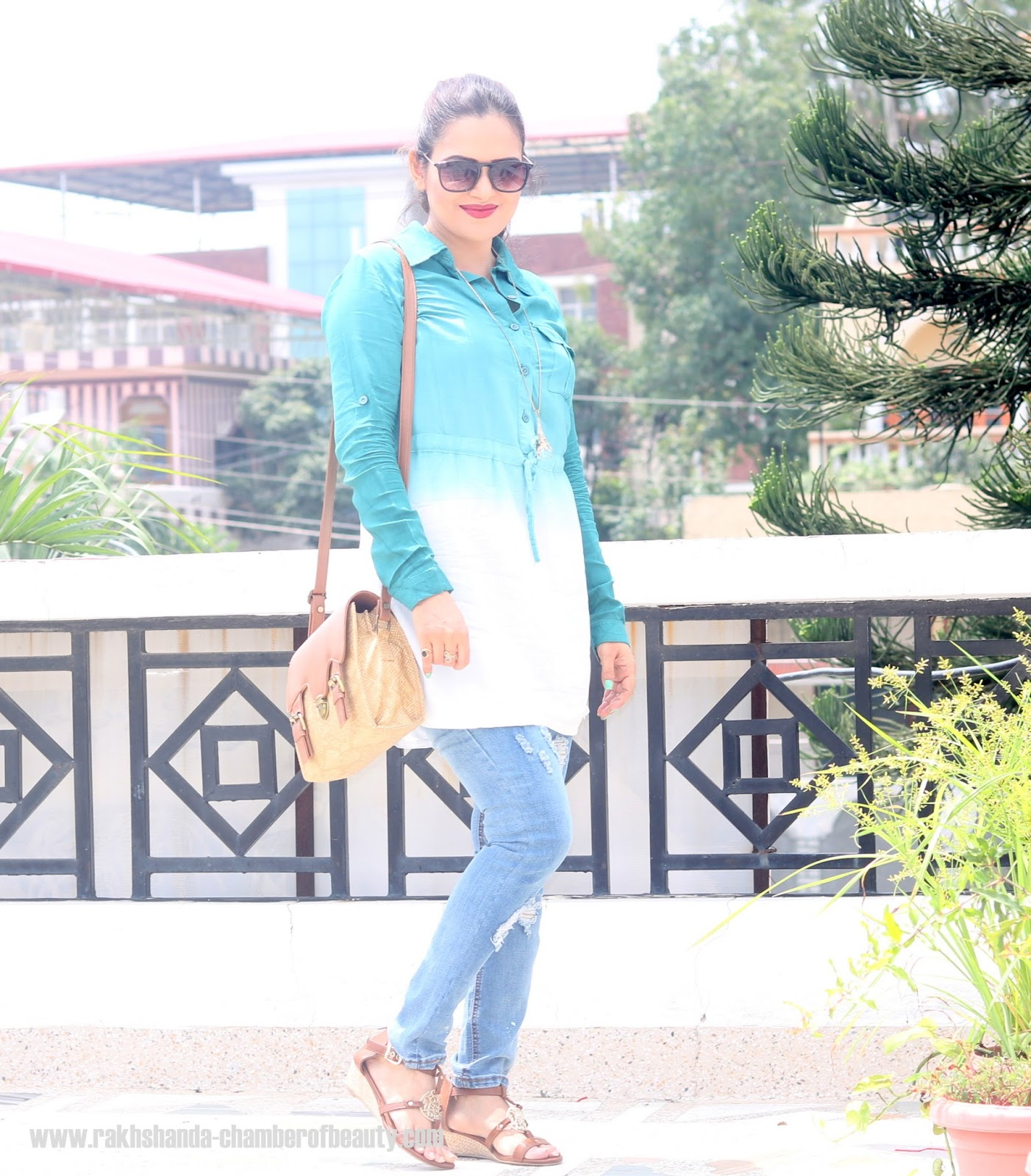 Ombre shirt dress, wsdear, Indian fashion blogger, Chamber of Beauty