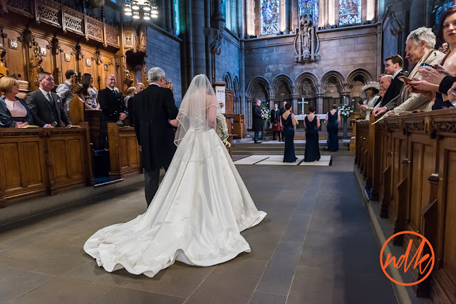 Glasgow University Chapel Wedding Photograph