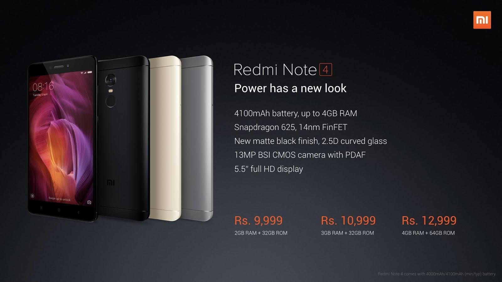 Xiaomi Redmi Note 4 With Snapdragon 625 For India!(comparison