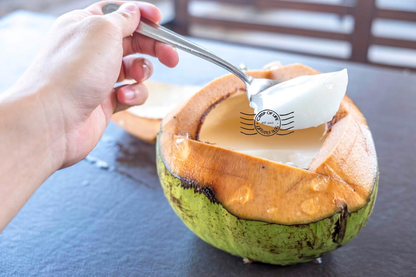 Coconut Pudding & Lokan Bakar @ Jalan Sulaman, Sabah