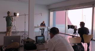 Rodando película Hekatombe (sonido, monitor y cámara)