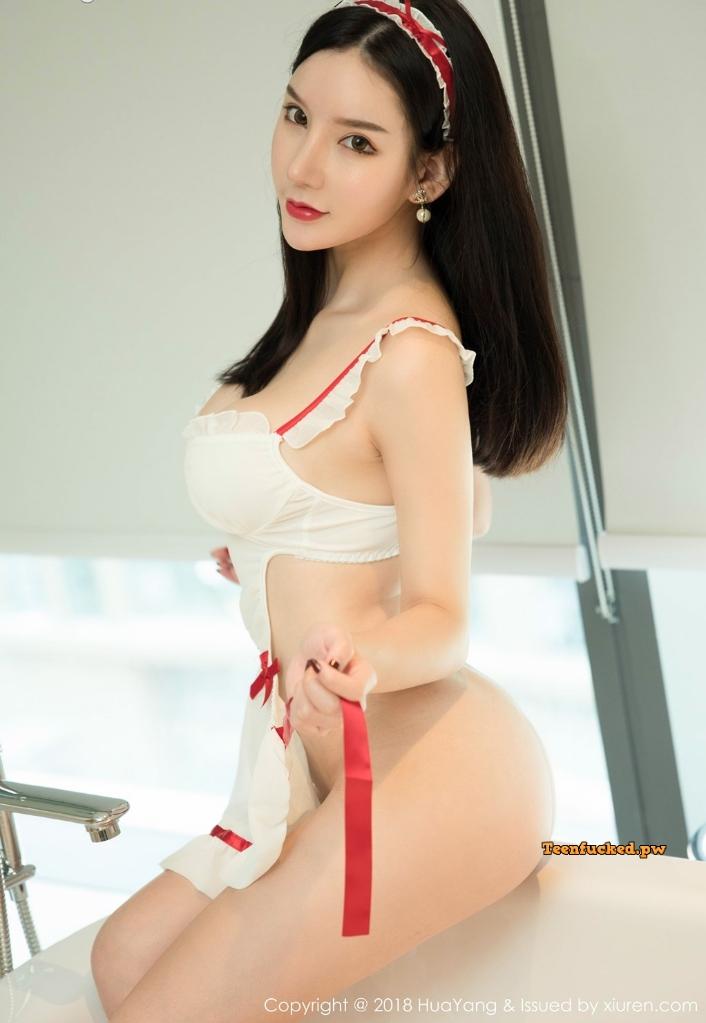 HuaYang 2018 10 12 Vol.089 Zhou Yuxi MrCong.com 023 wm - HuaYang Vol.089: Người mẫu Zhou Yuxi (周于希) (43 ảnh)