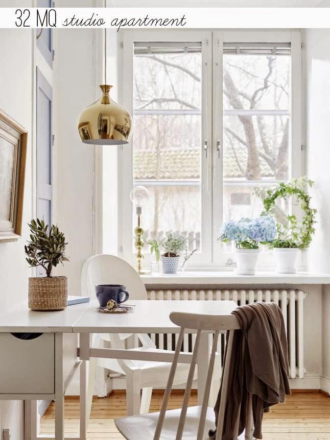 Arredare piccoli spazi studio apartment home shabby for Arredare stanza studio
