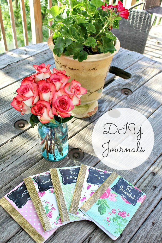 DIY Cottage Chic Journals