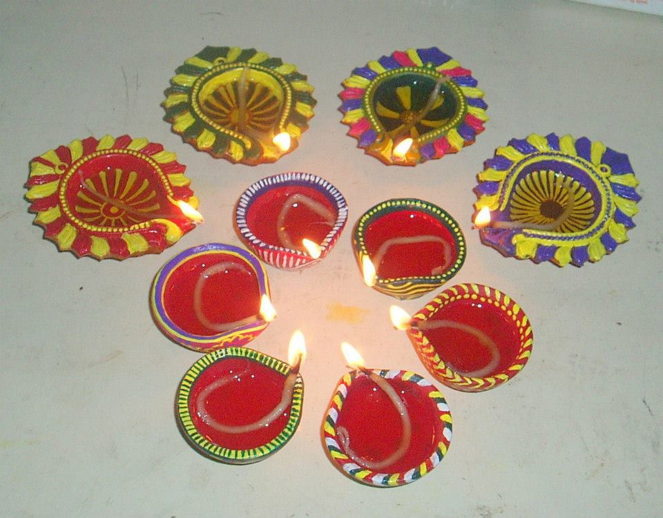 diwali diya pooja thali rangoli decoration ideas pictures