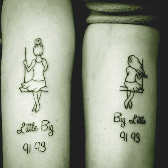 Little sis and big sis tattoo ideas