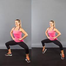 Doing squats with heels lifted.