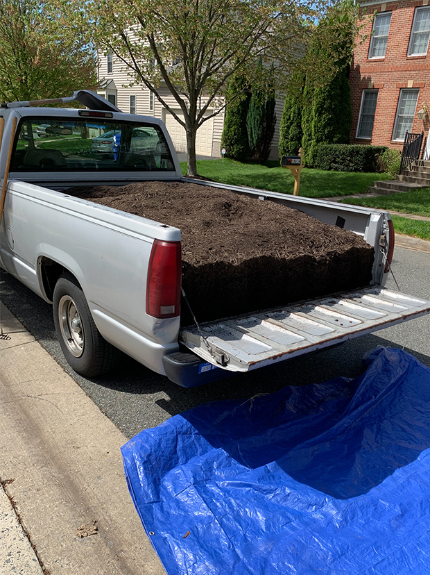 a truck load of mulch -