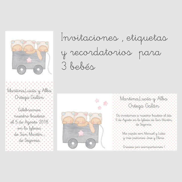 Ejemplos de recordatorios personalizados para BAUTIZOS Y BABYSHOWERS