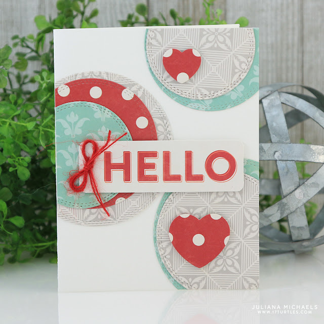 Hello Card by Juliana Michaels featuring Jillibean Soup Bohemian Brew