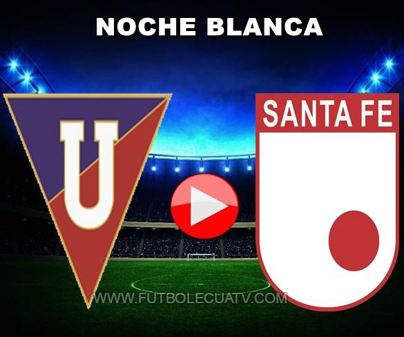 LDU Quito se mide ante Santa Fe en vivo 💻 a partir de las 20:00 horario de nuestro país a jugarse en el estadio Rodrigo Pal Delgado por la denominada Noche Blanca 2019, siendo el árbitro principal a mencionar luego con transmisión del canal oficial DirecTV Sports.