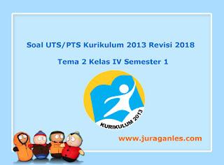 Kumpulan Download Soal UTS/ PTS Tema 2 Kelas 4 SD Semester 1 K13 Revisi 2018
