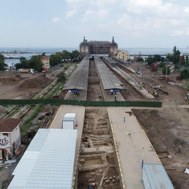 Byzantine remains found during restoration of historic Istanbul station
