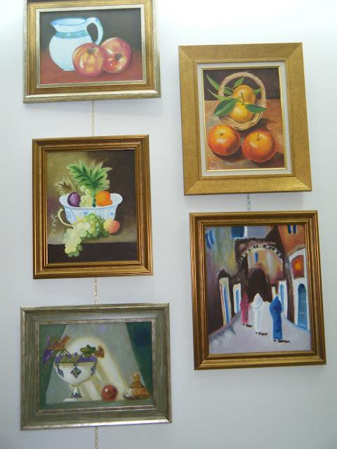 Les peintures de mes élèves à l'expo 15
