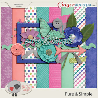 Ginger Scraps September 2017 Mini Kit Challenge   and Freebie
