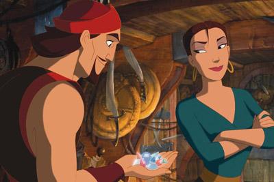 Sinbad e Marina da animação Sinbad a lenda dos sete mares