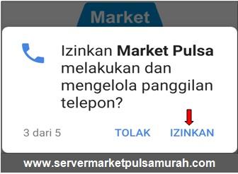 Izinkan Market Mobile Topup untuk melakukan dan mengelola panggilan telepon