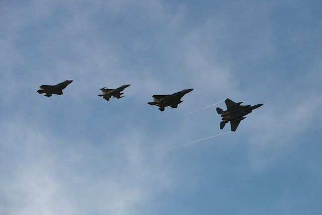 USAF FIGHTER JETS AT THE INAUGURATION OF DONALD TRUMP