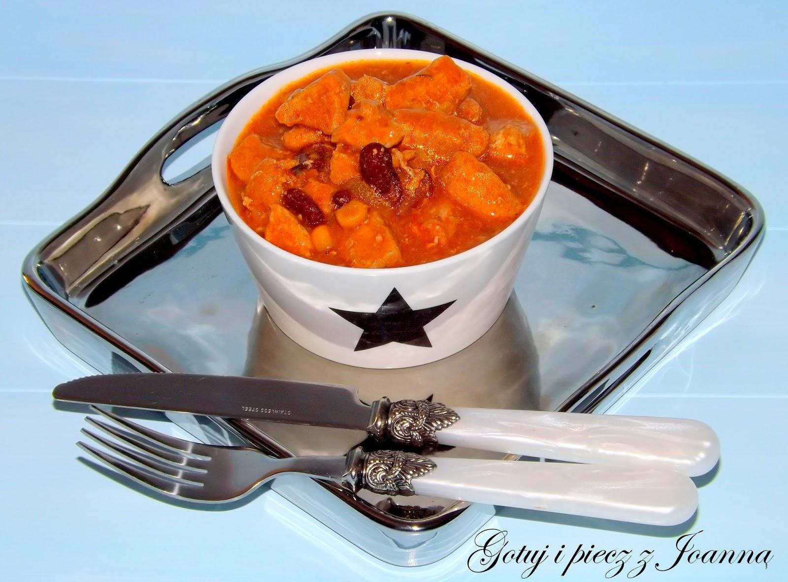 Gulasz z meksykańskim chili sin carne