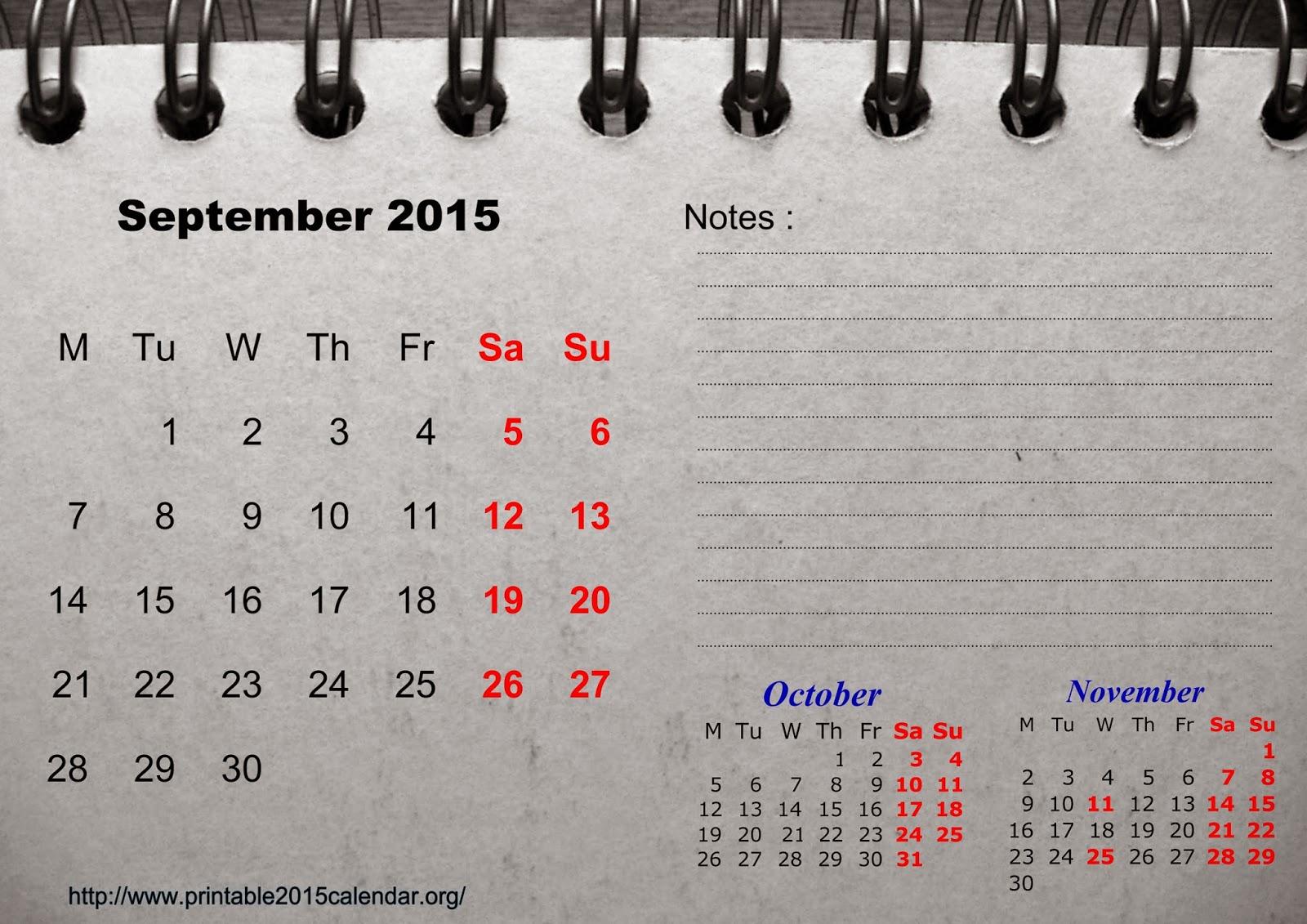 Free Printable Calendar 2018: Free Printable Calendar September
