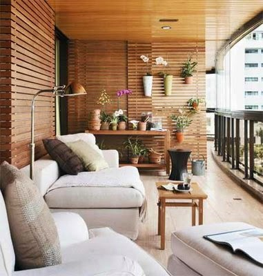 decoración de balcón