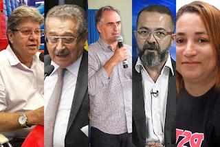 Zé Maranhão tem 31%, Lucélio tem 18% e João Azevedo soma 17% das intenções de voto, diz Ibope