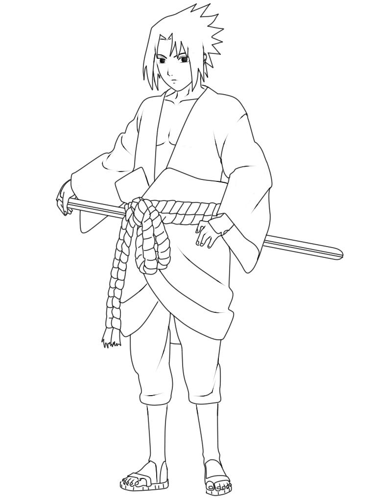 Cara Menggambar Sasuke  Uchiha Hebi Mode 9KomiK