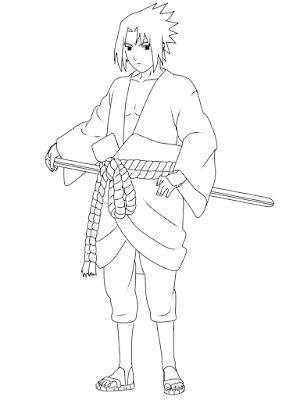 cara menggambar Sasuke Hebi tahap 20
