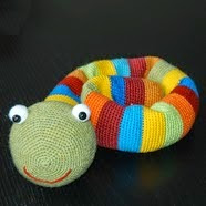 http://www.ravelry.com/patterns/library/rainbow-snake-crochet-pattern