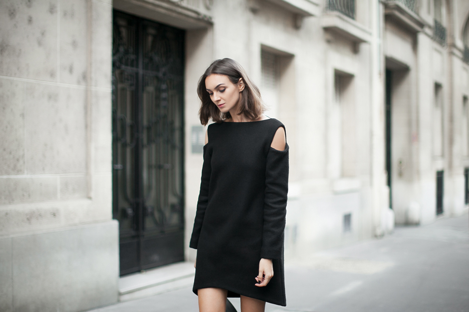 Look vestido negro de dia