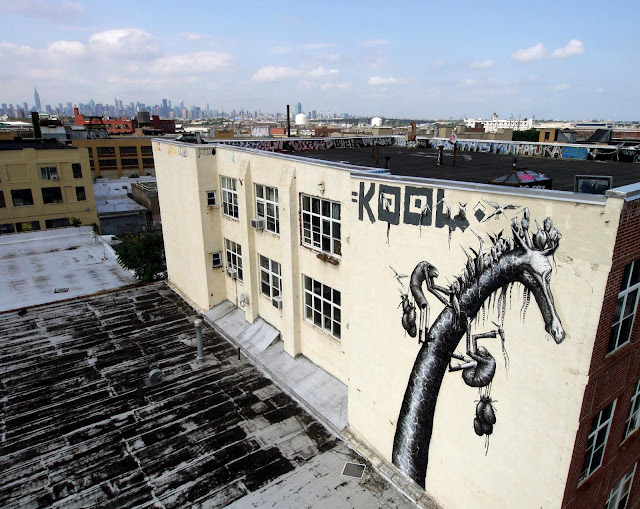 Street Art By Phlegm In Bushwick, Brooklyn.