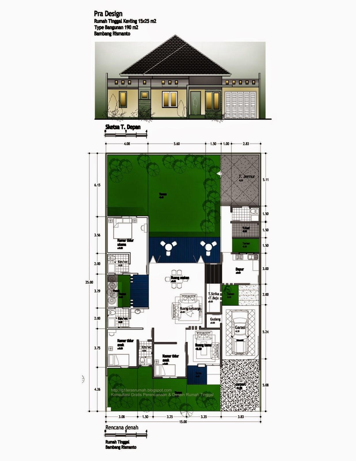 68 Desain Rumah Minimalis Empat Kamar Tidur  Desain Rumah