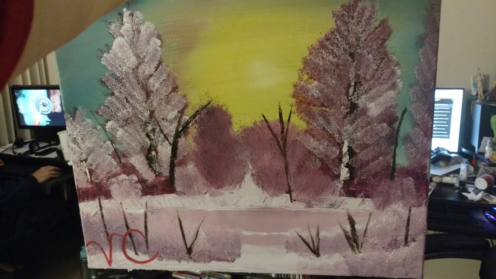 Tonight I Will Be Prepping For Tomorrows Black Canvas Painting So Join Me Tomorrow Another Run Down On My Experience With Bob Ross