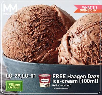 Village Grocer FREE Haagen-Dazs Ice-Cream Promo