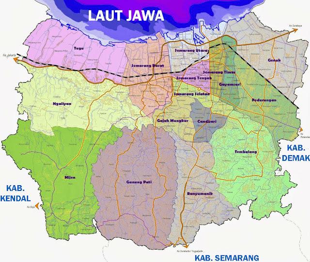 Gambar Peta Kecamatan Kota Semarang