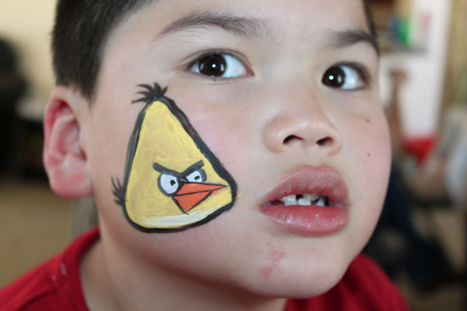Yellow Angry Bird Face Paint