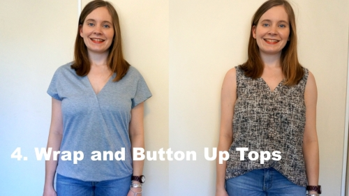 Two Breastfeeding Outfits From your regular wardrobe: Wrap and Button Up Tops | awayfromblue