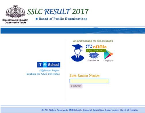 Kerala SSLC Results 2017 Live,Kerala full Results 2017