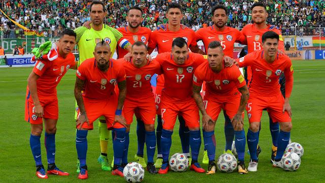 Formación de Chile ante Bolivia, Clasificatorias Rusia 2018, 5 de septiembre de 2017