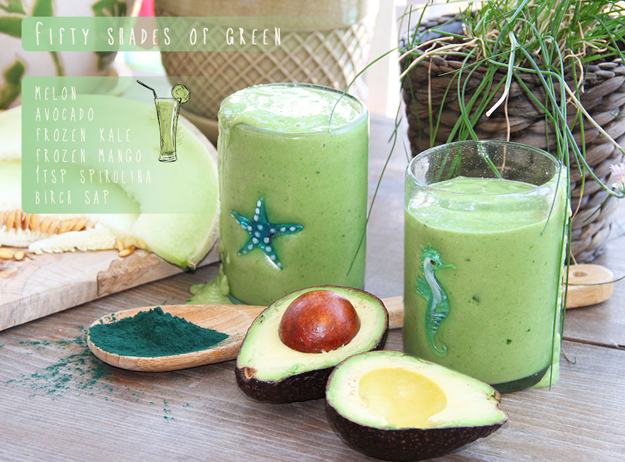 Superfood avocado melon smoothy