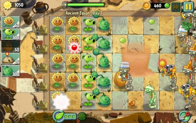 Tampilan Game Plants vs Zombies 2 Android