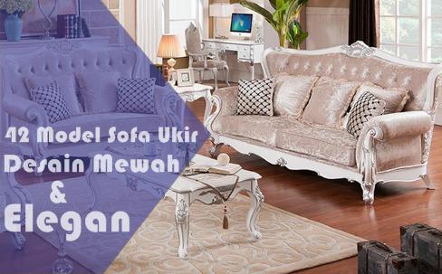 42 model kursi sofa ukir mewah untuk ruang tamu