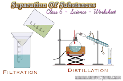 CBSE Class 6 Science - Chapter 5 - Separation Of Substances (Worksheet)(#cbsenotes)(#eduvictors)