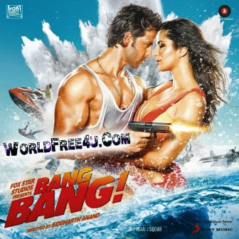 Poster Of Bollywood Movie Bang Bang (2014) 300MB Compressed Small Size Pc Movie Free Download worldfree4u.com