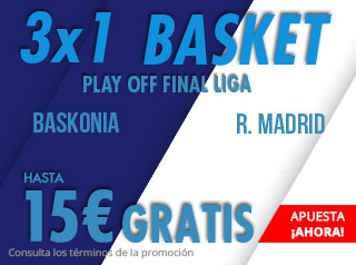 suertia promocion acb Baskonia vs Real Madrid 17 junio